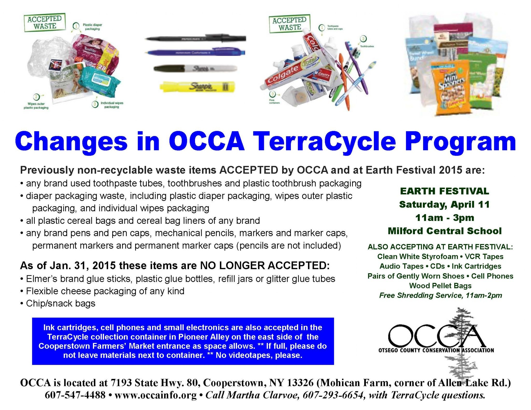 ECO-BULLETIN Vol 8, No 2 – March 20, 2015 – OCCA – Otsego