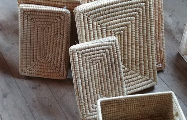 Wicker Nesting Boxes