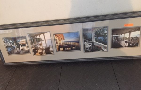 Framed and matted porch photograph